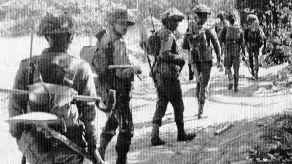 In 1971 India and Pakistan faced off in their third war in what was then East Pakistan. Indian troops supported secessionists fighting for independence from Pakistan. The 13-day war ended with the creation of the state of Bangladesh, divesting Pakistan of nearly half of its population and a significant portion of its army, effectively establishing India's regional dominance in the subcontinent. (AP FIle)