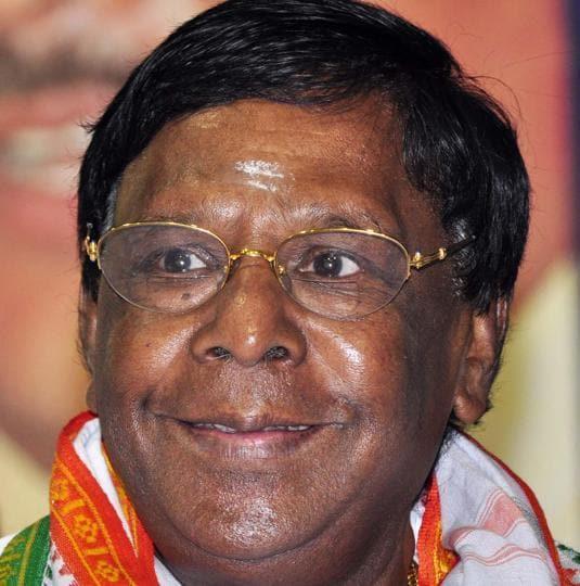 Pondicherry chief minister V Narayanasamy.