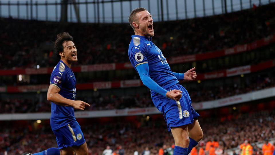 Despite Arsenal creating a number of chances, Jamie Vardy gave Leicester a 2-1 lead against the run of play, midway through the first half, as the Gunners' defence struggled to cope with crosses. (Action Images via Reuters)