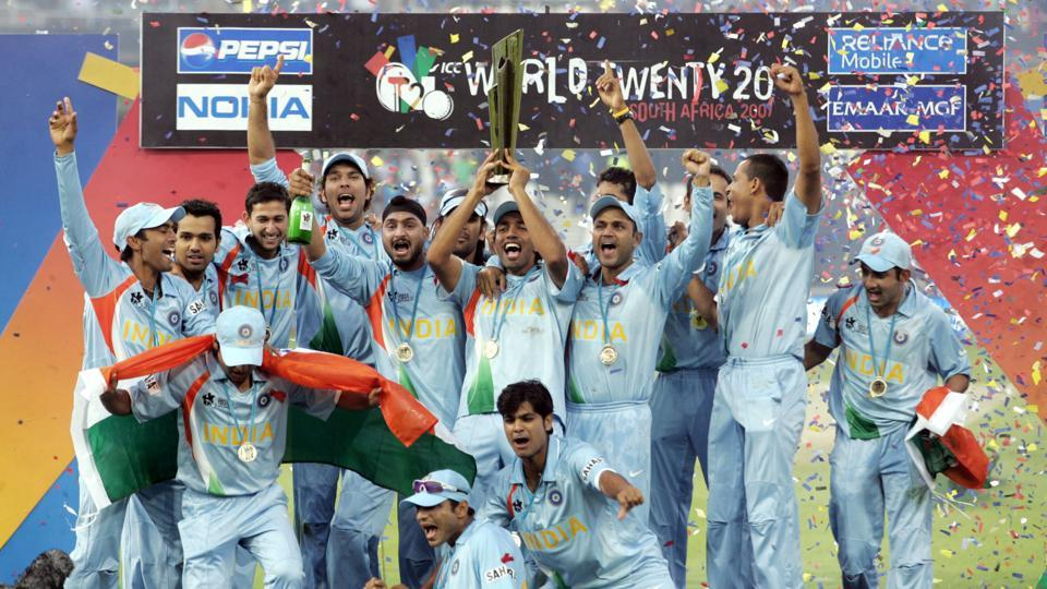 India beat Pakistan by five runs to win the inaugural ICC World Twenty20 on September 24, 2007 at The Wanderers in Johannesburg, South Africa. India scored a win by 5 runs, dazzling the world with the edge-of-the-seat thrill of the newly introduced short format. (Themba Hadebe / AP)