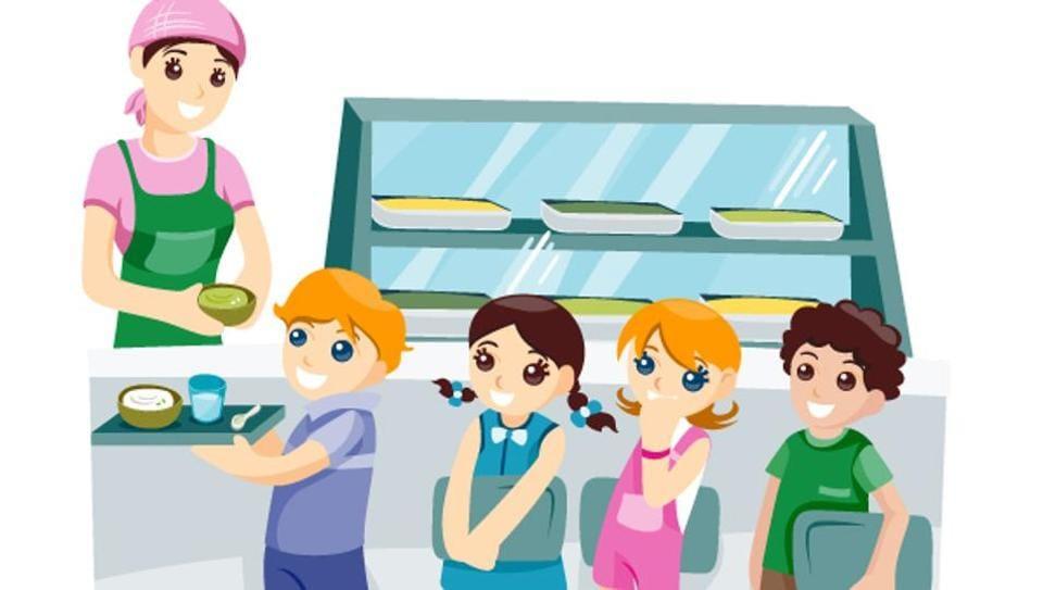 US school,Lunch queue,Jump your queue