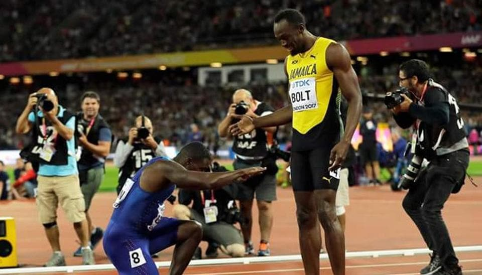 Usain Bolt,Justin Gatlin,IAAF World Athletics Championships