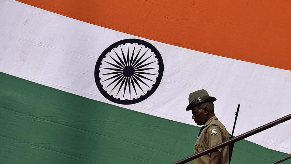 With India's 71st Independence day already knocking on the door, preparations are underway across the country with much pomp and gusto.The full-dress rehearsal is carried out two days ahead of the Independence day with mock drills, parades and flag hoisting.On 15th August 1947, Pandit Jawaharlal Nehru, the first PM of India delivered his famous speech 'tryst with destiny' raising the National Flag above the Lahori Gate of Red Fort. Since then, this tradition has been followed by every successive Prime Minister.  (Raj K Raj/HT PHOTO)
