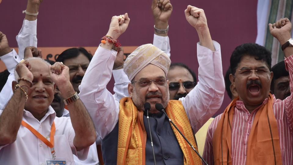 BJP national President Amit Shah during his visit to Bengaluru.
