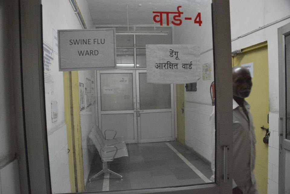 A swine flu ward in a Ghaziabad hospital.
