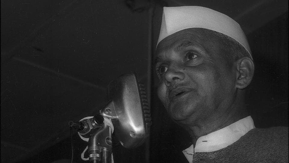 After the sudden demise of Nehru in 1964, a fortnight later Lal Bahadur Shastri was chosen as the 2nd Prime Minister of India. He is known for the famous slogan, 'Jai Jawan, Jai Kisan'  delivered on the occasion of India's 18th Independence Day. His slogan holds significance as India was recovering after the 1962 war with China and the country was facing a severe drought and food  shortage. His words reached the length and breadth of the country and resonated with the masses.  (HT Photos)