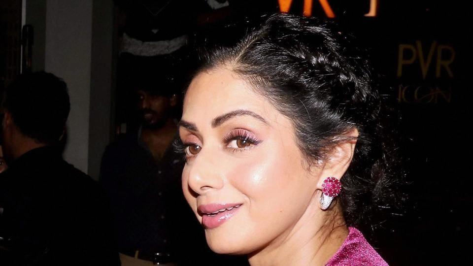 Sridevi attends a Mumbai screening of her film, Mom.