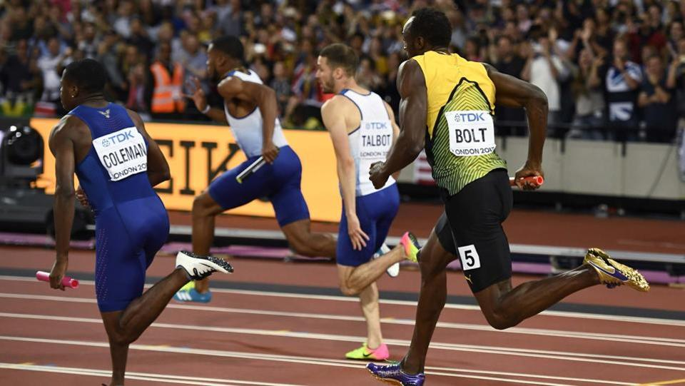Jamaica were banking on Bolt's incredible acceleration to take them up the podium.  (REUTERS)