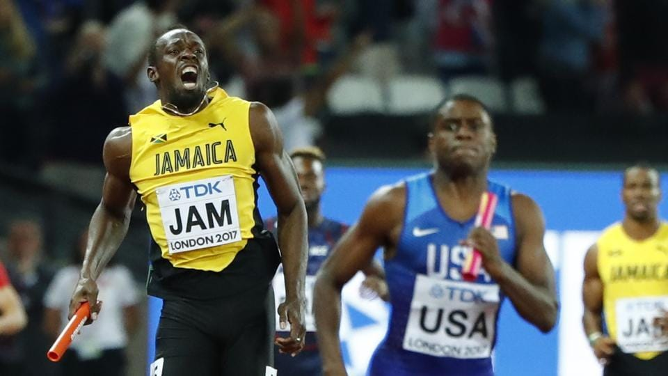 However, Bolt looked to be in serious discomfort shortly after. (REUTERS)