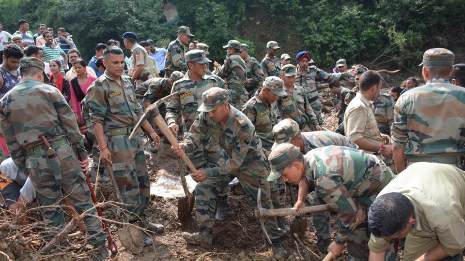 Himachal landslide,rescue Operation