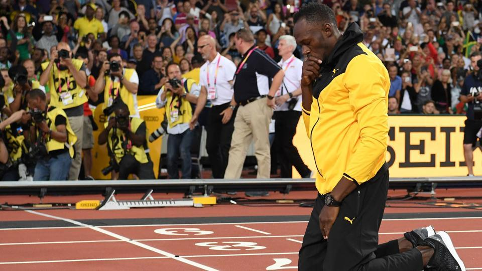 Retiring sprint legend Usain Bolt took part in a lap of honour on the final day of the 2017 IAAF World Championships at the London Stadium on Sunday. (AFP)