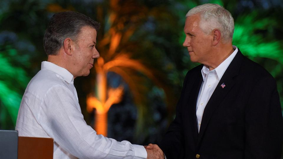 U.S. will not stand by while Venezuela collapses into dictatorship: Pence