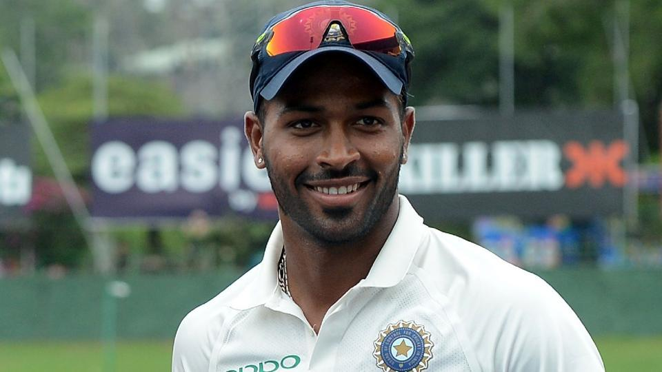 Hardik Pandya holds the Man of The Match prize after victory in the third day of the third Test match between Sri Lanka and India.