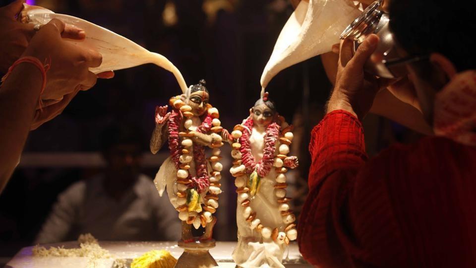 Krishna Janmashtami celebrations at Juhu, Mumbai.
