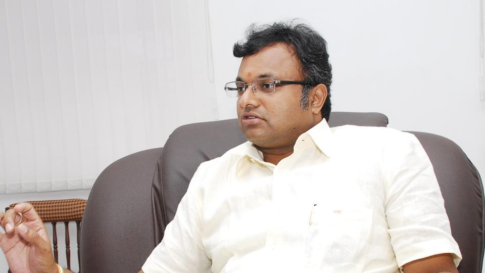 The Madras High Court had stayed the look out circulars issued against Karti Chidambaram and four others over a corruption case filed by the CBI. (HT file photo)