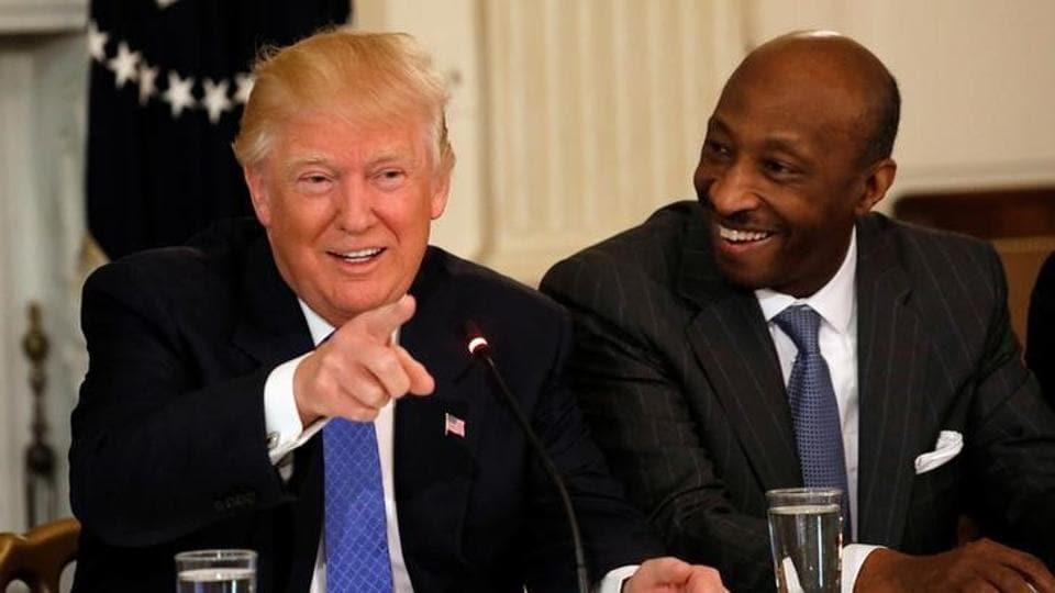 US President Donald Trump,Merck CEO Ken Frazier,Charlottesville violence