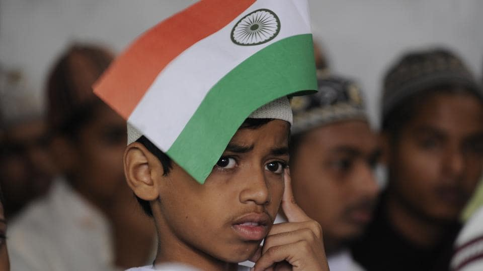 Independence Day celebration at Madarsa Darul Uloom Husainia in Gorakhpur, Uttar Pradesh. (Deepak Gupta/HT Photo)