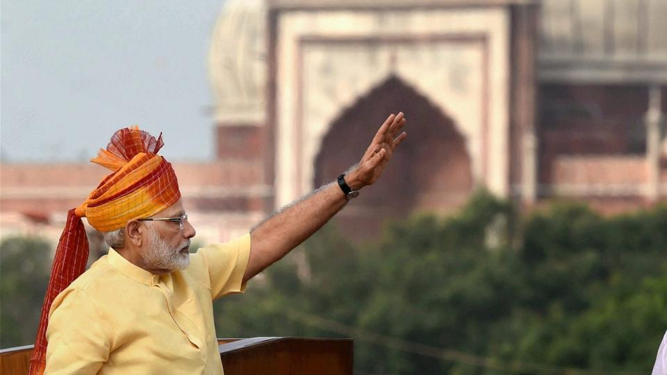 Image result for Narendra modi red fort address