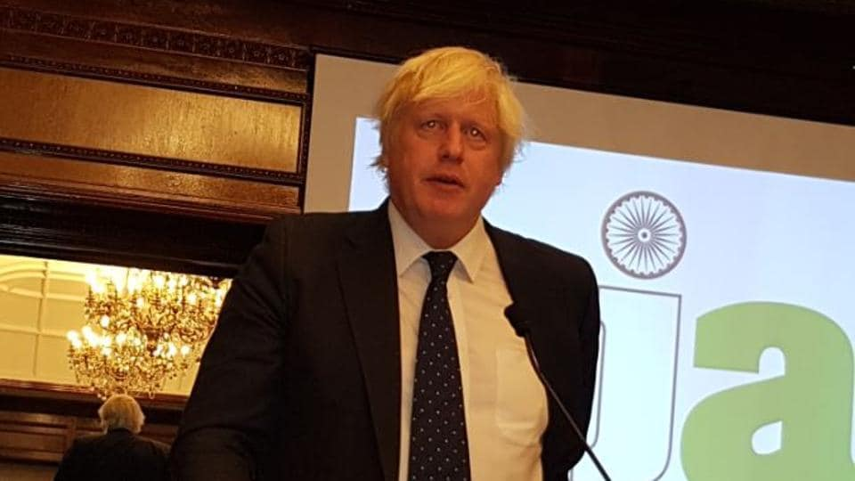 Boris Johnson,Indian high commissioner YK Sinha,Indian Journalists Association