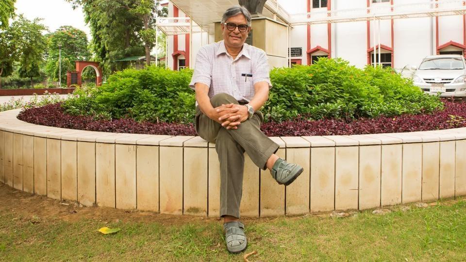 Jamia Millia Islamia, Prof Talat Ahmad poses for a photograph.