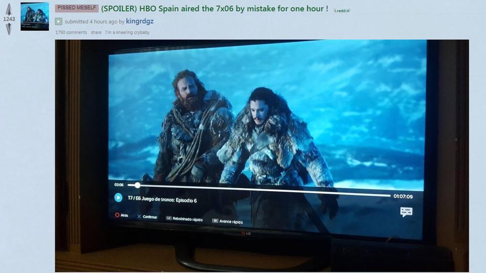Game of Thrones,HBO Spain,Leak