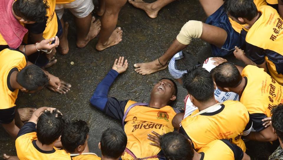 Mumbai,Dahi handi,Injuries