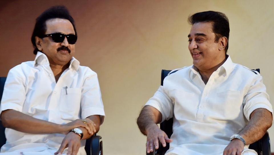 Kamal Haasan attended the diamond jubilee celebration of DMK's mouthpiece Murasoli in Chennai on August 10.