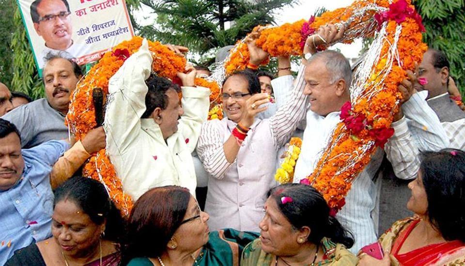 BJP,BJP wins MP polls,MP civic polls
