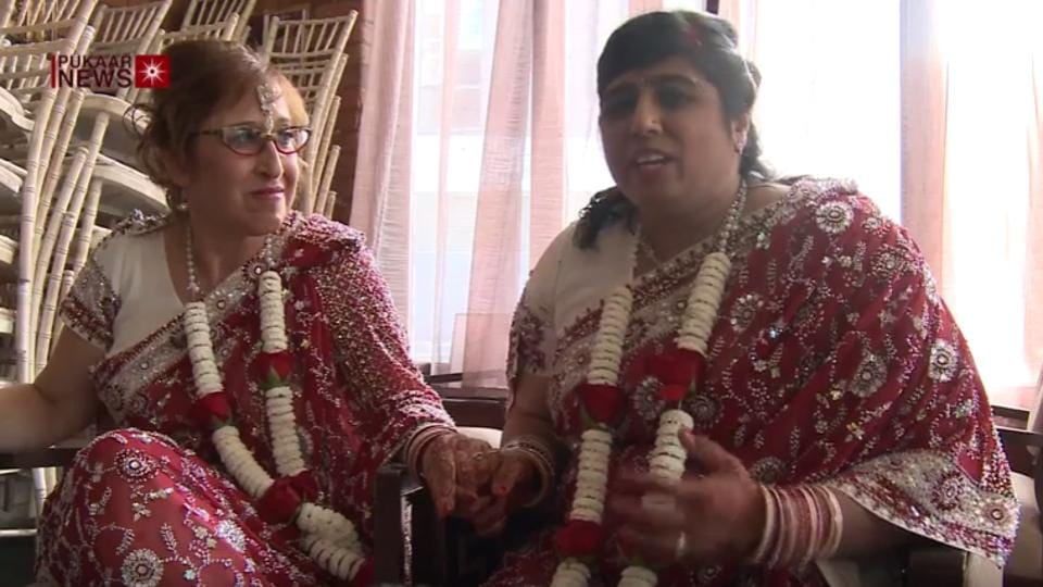 Hindu-Jewish Lesbian Couple Tie Knot In Touching Interfaith Ceremony