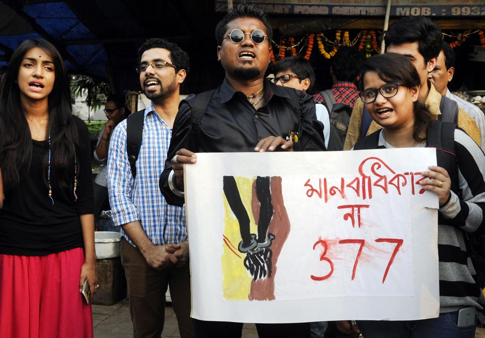 File photo of an LGBT protest in  Kolkata.  As women, sexual minorities and other disadvantaged groups in our society know all too well, surveillance, only growing in the digital age, is essential to controlling people.