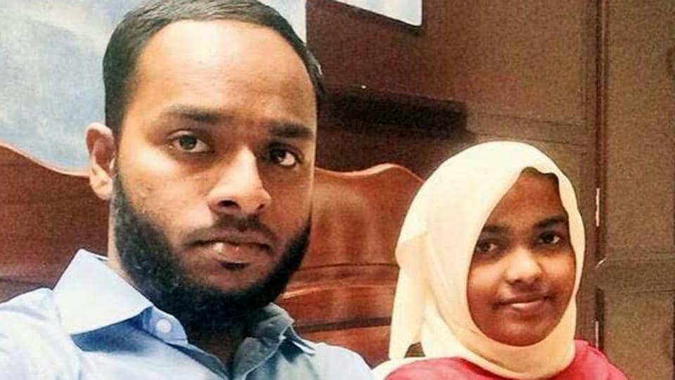 The Supreme Court has asked the NIA to probe the marriage between Hadiya (right), a Hindu woman who converted to Islam after marrying Shafin Jehan.