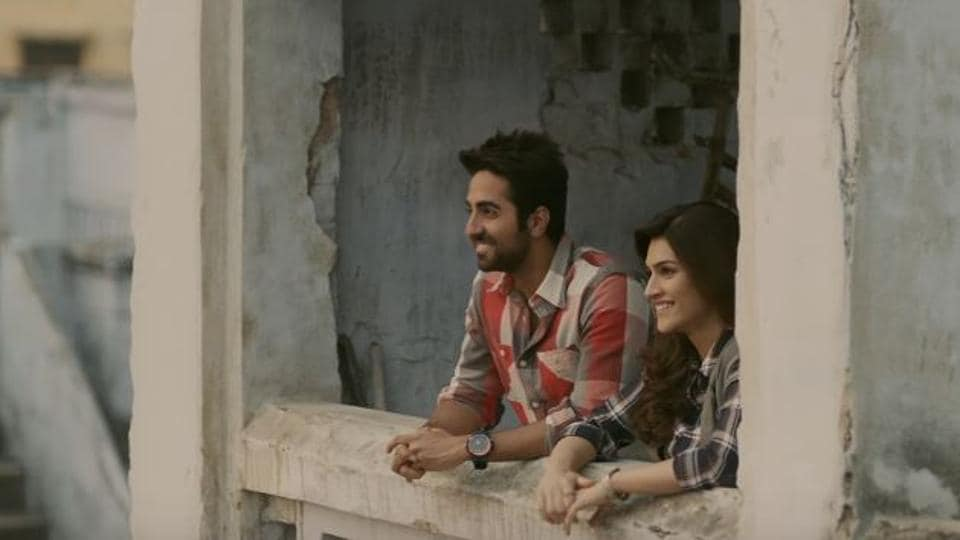 Kriti Sanon and Ayushmann Khuranna in a still from Bareilly Ki Barfi.