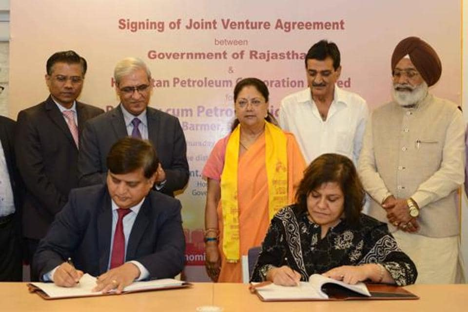 The Vasundhara Raje government signed a revised agreement with HPCL to set up an oil refinery in Pachpadra, 120km from Barmer. Prime Minister Narendra Modi is expected to lay the foundation stone for the refinery  on January 16.