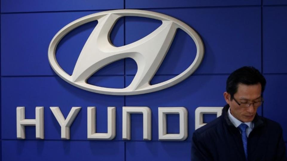 The logo of Hyundai Motor is seen at its dealership in Seoul, South Korea.
