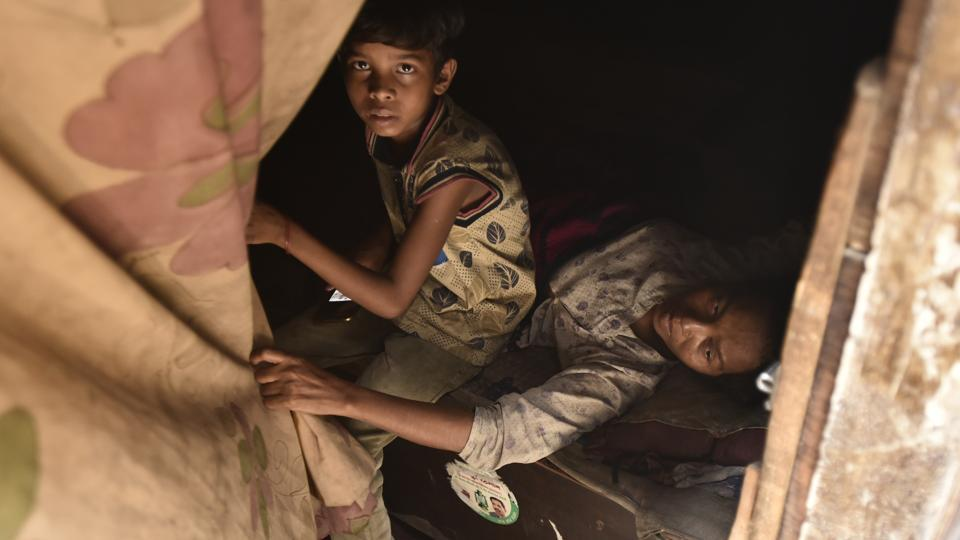 According to the government illegal immigrants like Rohingyas pose grave security challenges as they may be recruited by terrorist groups. In a communication to all states, the Union home ministry said, 'the rise of terrorism in last few decades has become a serious concern for most nations as illegal migrants are more vulnerable to getting recruited by terrorist organizations.' (Burhaan Kinu/HT PHOTO)