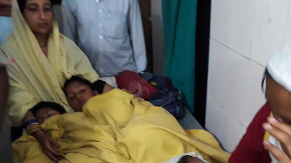 Some of the passengers at a medical facility after they were rescued  by the NDRFfrom a river in Sitamarhi in Bihar.