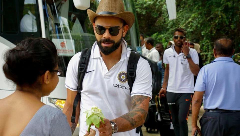 The Virat Kohli-led Indian cricket team reached Dambulla ahead of their ODI series opener against Sri Lanka on Sunday. (Twitter/bcci)