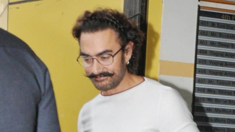 Aamir Khan spotted outside a studio in Andheri, Mumbai.