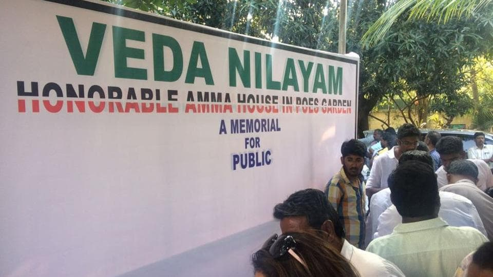 Chief minister K Palaniswami on Thursday announced that the Tamil Nadu government will convert Jayalalithaa's Veda Nilayam residence into a memorial.