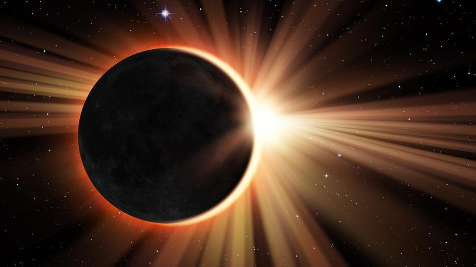 The total eclipse, when the Moon fully blocks light from the Sun, will be visible from a 70-mile-wide path that carves through 14 US states.