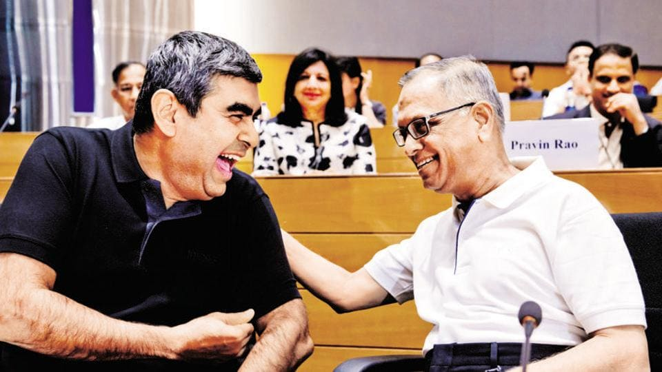 Infosys founder NR Narayana Murthy L and