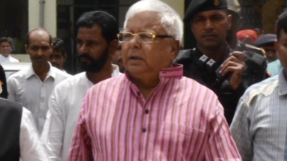 RJD president Lalu Prasad appears before a special CBI court in connection with a Fodder Scam case at Civil court premises in Ranchi, on August 17, 2017.