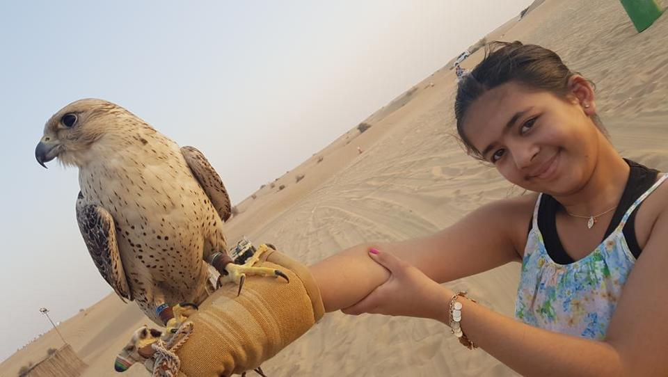 Gutsy girl: Courage to overcome fear is the only key to a safe future for our daughters. This photo is of my 11-year-old daughter, Nainika Cheema, in Dubai on April 15, 2017.  (Contributed by Damanpreet Cheema)