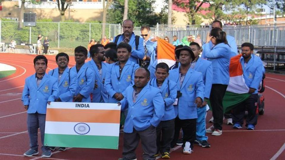 The members of the Indian team at the World Dwarf Games held recently in Ontario, Canada.