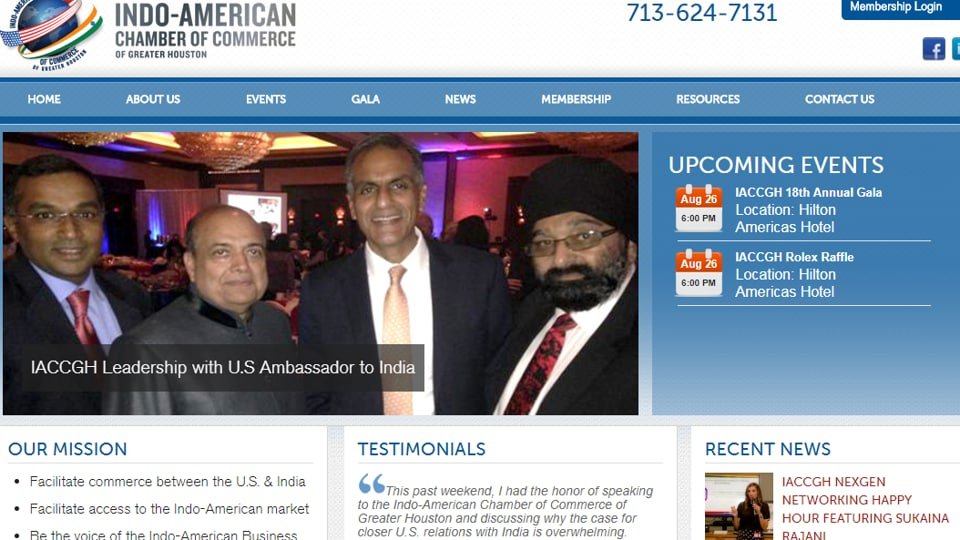 Indo-Americans,IACCGH gala,Indians in US