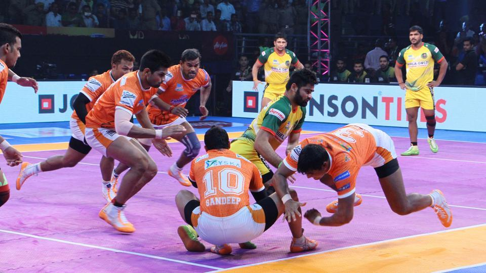Puneri Paltan defeated Patna Pirates in the Pro Kabaddi League in Lucknow on Sunday.