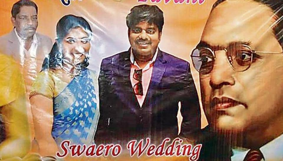 Andey Bhaskar carried the suffix Swaero while sending out wedding invitations.