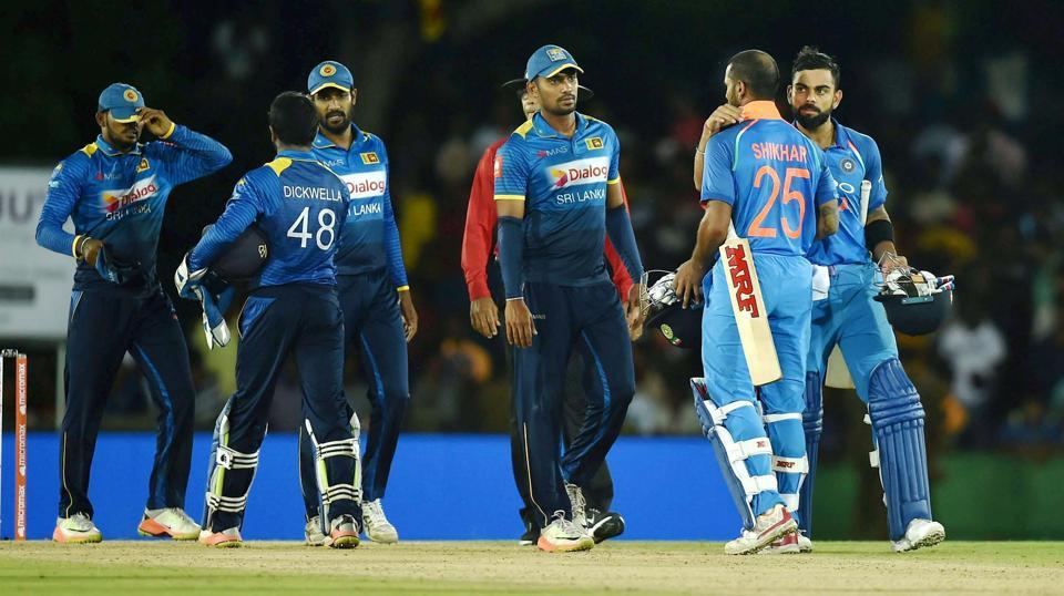 India handed Sri Lanka a nine-wicket defeat in the first ODI that was played in Dambulla on Sunday.