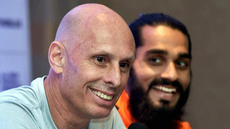 Indian football team coach Stephen Constantine is happy with the team's performance in the Tri-National football series.