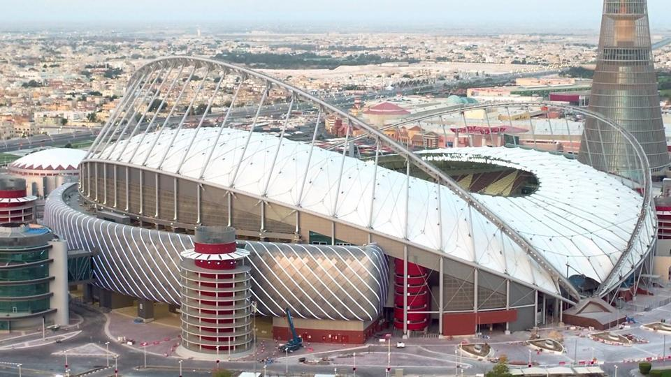 A file picture of the khalifa international stadium the first completed 2022 fifa world cup